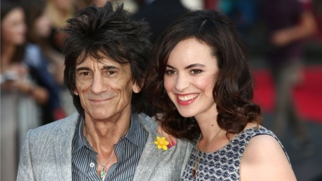 ROLLING STONE RONNIE WOOD becomes father to twins, aged 68