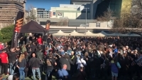 Hundreds of AC/DC fans gather in Sydney in bid to break world record