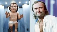 Гигантска статуя на бебето ХРИСТОС с лицето на ФИЛ КОЛИНС в Мексико