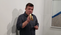 Man eats $120,000 banana from Art Basel exhibit