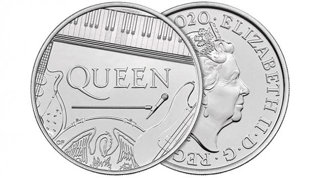 QUEEN e първата британска група с монета от Кралския монетен двор